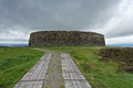 Grianan of aileach stone fort the is a group historic structures atop a metres hill in county donegal ireland Royalty Free Stock Photos