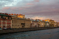 Griboyedov canal in Saint Petersburg at sunset Royalty Free Stock Photo