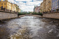 Griboyedov Canal in Saint-Petersburg Royalty Free Stock Photo