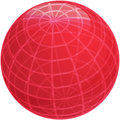 Grid sphere illustration Royalty Free Stock Photography