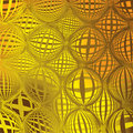 Grid structure in yellow and brown colors Stock Image