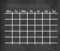 Grid weekly calendar for full week