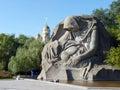 Grief memorial on mamayev kurgan in the city of volgograd Royalty Free Stock Photo