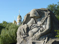 Grief memorial on mamayev kurgan in the city of volgograd Stock Image