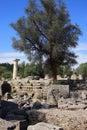 Griekenland Olympia Ruins Stock Afbeelding