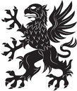 Griffin heraldry symbol Royalty Free Stock Photo