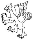 Griffin vector image of an outline Royalty Free Stock Photos