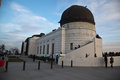 Griffith observatory in los angeles the world renown at the top of the mountain park Royalty Free Stock Image