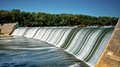 Griggs dam in summer upper arlington ohio during time Royalty Free Stock Photography
