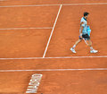 Grigor dimitrov at the atp mutua open madrid playing against novak djokovic th may Stock Photos