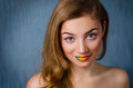 Gril with rainbow lips Royalty Free Stock Photo