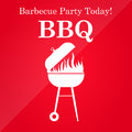 Grill or barbeque vector template icon eps Royalty Free Stock Images
