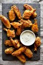 Grill chicken wings with sauce Royalty Free Stock Photo