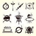 Grill elements set vector illustration Stock Images