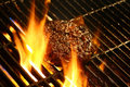 Grill with fire Stock Image