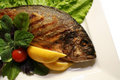 Grill a fish Royalty Free Stock Photo