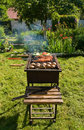 Grill in a garden Royalty Free Stock Images