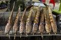 Grill marinate catfish Royalty Free Stock Photo