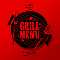 Grill menu. Stock Photos