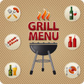 Grill menu card design illustration for template Royalty Free Stock Photography