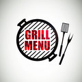 Grill menu design illustration of a template Stock Image