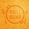 Grill menu design template illustration of a Stock Image