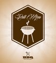 Grill menu over vintage background vector illustration Royalty Free Stock Photography