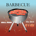 Grill menu retro design and Royalty Free Stock Photos