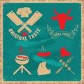 Grill menu title template.