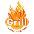 Grill sticker Royalty Free Stock Photos