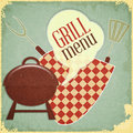 Grilla Menu Obrazy Royalty Free