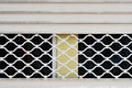 Grille gate pattern metal close up Stock Photography