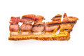 Grilled bacon rasher delicious of fried or crispy ready to serve high key horizontal shot Stock Photo