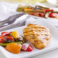 Grilled barbecue chicken closeup Royalty Free Stock Image