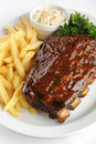 Grilled barbecue ribs Royalty Free Stock Photo