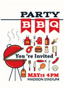 Grilled bbq party icon style Royalty Free Stock Photo