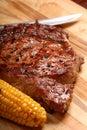 A grilled BBQ ribeye steak Stock Image