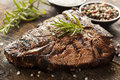 Grilled BBQ T-Bone Steak Royalty Free Stock Photo