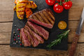 Grilled beef steak rare Royalty Free Stock Photo
