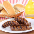 Grilled Bratwurst Royalty Free Stock Photos
