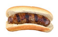 Grilled Bratwurst Isolated Stock Images