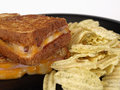 Grilled Cheese with Ham Stock Photography