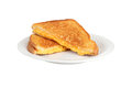 Grilled cheese sandwich on a plate Royalty Free Stock Photo