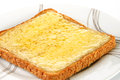 Grilled cheese on wholemeal toast Royalty Free Stock Photo