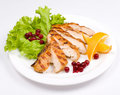 Grilled chicken breast Royalty Free Stock Images