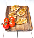 Grilled chicken breasts fillet with fresh vegetables tasty Royalty Free Stock Images