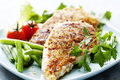 Grilled chicken brest fillet Royalty Free Stock Photo