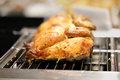 Grilled chicken covered with crisp cooked on the stove Royalty Free Stock Photo