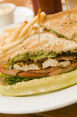 Grilled chicken filet sandwich Stock Images