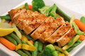 Grilled chicken with fresh vegetables Royalty Free Stock Photo